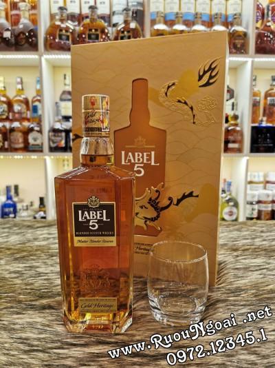 Rượu Whisky Label 5 Gold - Hộp Quà
