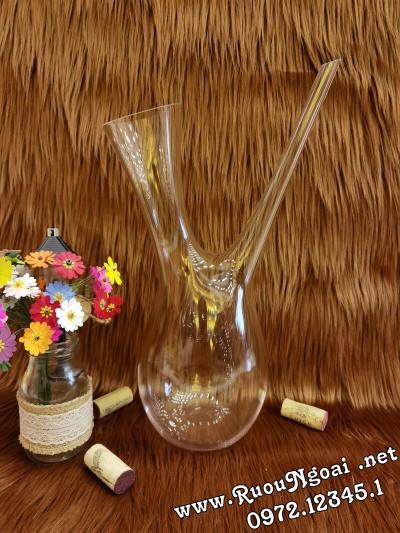 Bình Đựng Rượu Vang - Decanter Dáng Đẹp M13