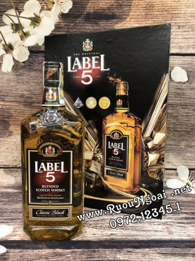 Rượu Whisky Label 5 Classic - Hộp Quà 2019