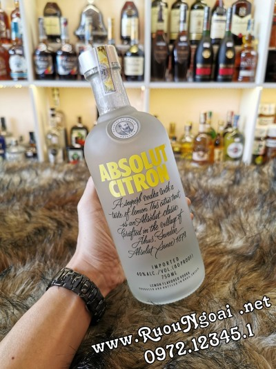 Rượu Vodka Absolut Citron