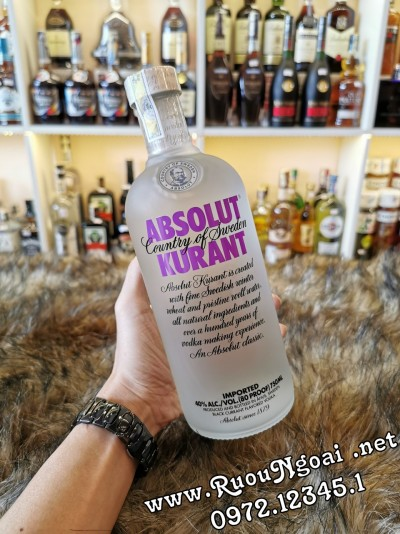Rượu Vodka Absolut Kurant