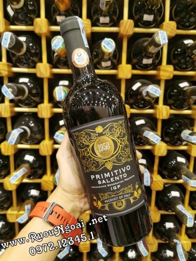 Rượu vang Ý Primitivo Salento 1950