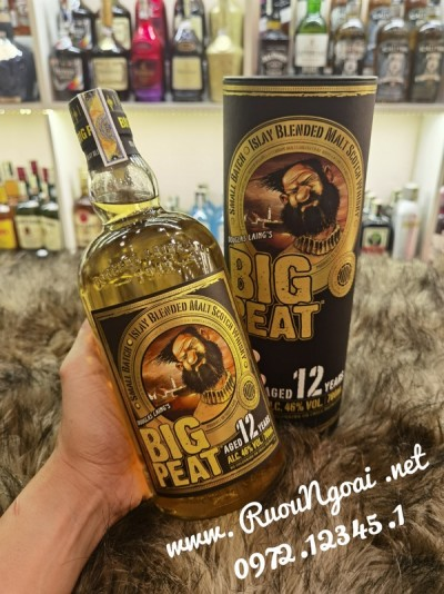 Rượu Big Peat 12 Years Old